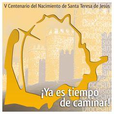 Logo y cartel de la diócesis de Ávila para el  V Centenario