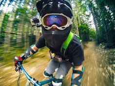 A Fun day mountain biking in Whistler. Photo by  Zack Altschuler. Hands-free selfies on the go with the GoPro Front Helmet: http://gopro.com/camera-mounts/helmet-front-mount