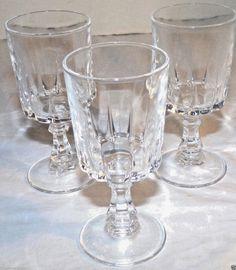 Vintage Crystal Cocktail Cordial Shot Glasses Short Stem Set of 3 #Unmarked #CocktailCordialGlasses
