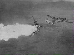B-24 hit by flak and explodes in mid air. May all of you brave men rest in peace.