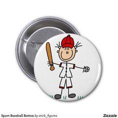 Sport Baseball Button