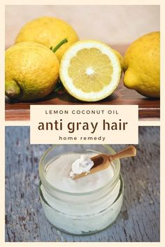 Lemon Coconut Oil Anti Gray Hair Home Remedy - Have gray hair? You may want to check this out