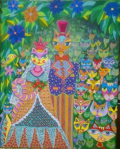 Acryl on Canvas- Nunta-Bienala Gabrovo Bulgaria