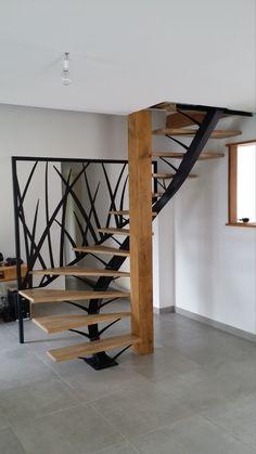 Escalier Art, Escalier Design, Home Stairs Design, Home Interior Design, House Design, Casa Top, Luxury Staircase, Garage To Living Space, House Extension Design
