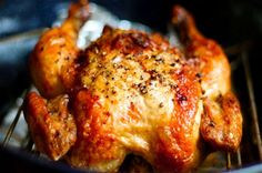 I love Crispy chicken. And whole chickens are actually a lot cheaper than buying chicken a different way. chicken recipes for dinner Crispy Roasted Chicken, Baked Chicken, Tandoori Chicken, Roasted Garlic, Oven Chicken, Chicken Pasta, Healthy Chicken, Chicken Wings, Oven Roasted Whole Chicken