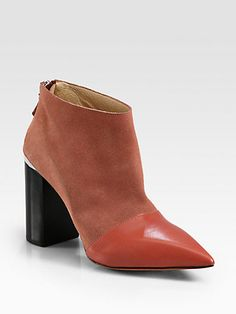 See by Chloe - Suede and Leather Ankle Boots - Saks.com