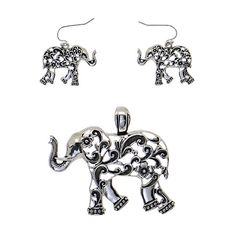 Elephant Pendant Set...