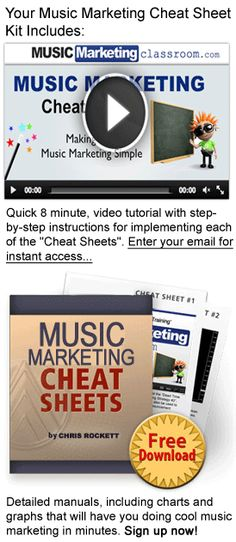Download Your Free Music Marketing Cheat Sheets — Music Marketing Classroom This will give you the control you need to turn your Music career into a real business.  www.digitalbookshops.com #Arts #Entertainment #Art #Music