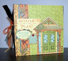 Artisan Style Mini Album by design team member Jessica using Artisan Style I REALLY Want It All Bundle by Graphic 45 found at fotobella.com