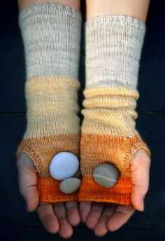 no time to chat; making these right now with malabrigo merino light. by purl bee.