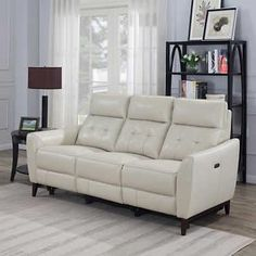 Timmons Leather Power Reclining Sofa With Power Headrest In 2020 Power Reclining Sofa Reclining Sofa Power Recliners