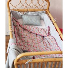 Perfect crib bed for a beautiful vintage bohemian inspired baby girl's nursery / little girl's room <3