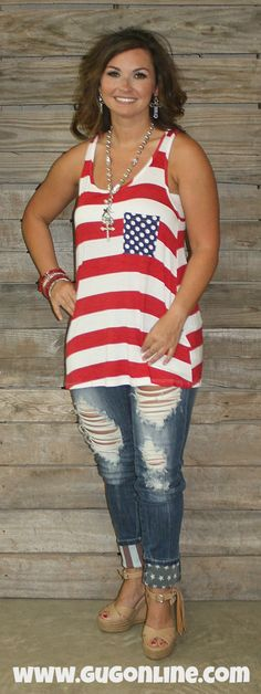 35fd653f89e46 Justice For All American Flag Jeans  36.95 www.gugonline.com Giddy Up  Glamour