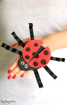 Paper Ladybug Hand Puppet Craft for Kids