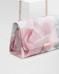 Porcelain Rose evening bag - Nude Pink Bags Ted Baker More Buy Women fashio Luxury Bags, Luxury Handbags, Fashion Handbags, Purses And Handbags, Fashion Bags, Cheap Handbags, Summer Handbags, Ladies Handbags, Stylish Handbags