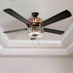 "Birch Lane™ Heritage 42"" Raymer 5 Blade LED Ceiling Fan, Light Kit Included & Reviews | Birch Lane"