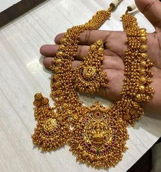 Ba Matt jewel for Rs 4100 with shipping Direct message to place order Shipping is extra the damage will be… Indian Jewelry Earrings, Jewelry Design Earrings, Gold Jewellery Design, Jewelry Necklaces, Gold Necklace, Gold Temple Jewellery, Gold Jewelry, Pakistani Bridal Jewelry, Bead Embroidery Jewelry