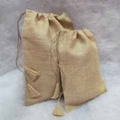 Blank Burlap Bag -- Small -- from Jubilee Fabric.  Great for personalizing gifts or for packaging bridesmaids gifts.