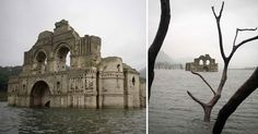 A drought in Mexico uncovers a 400-year-old colonial church in the middle of a water reservoir