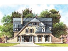 Dutch colonial homes on pinterest dutch colonial for Dutch colonial garage plans
