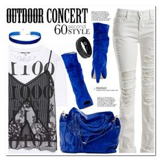 """60-Second Style: Outdoor Concerts"" by paoloshoes ❤ liked on Polyvore featuring McQ by Alexander McQueen, Sans Souci, Simons, Swarovski, 60secondstyle and outdoorconcerts"