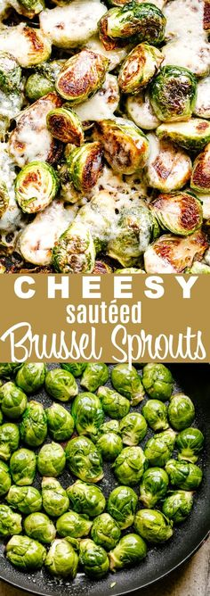 Sauteed Brussel Sprouts - Crispy, buttery, garlicky, and cheesy Brussel Sprouts prepared on the stovetop in just 15 minutes! These deliciously sautéed Brussel Sprouts are an easy and healthy side dish that are quick to make and require only 5 ingredients. Low Carb Side Dishes, Healthy Side Dishes, Side Dish Recipes, Sauteed Brussel Sprouts, Sauteed Vegetables, Brussels Sprouts, Veggies, Easy Vegetable Side Dishes, Vegetable Recipes