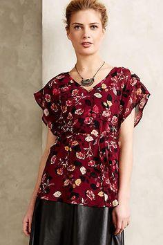 31c5c57502 NEW ANTHROPOLOGIE LARGE L  118 Meadow Rue Rose Garden Kimono Blouse Womens  Top  AnthropologieMeadowRue