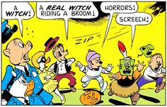 Horrors!  Screech! | From the Jet Witch by Carl Barks