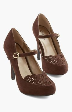 new styles 1ed84 4fe2f Definitive Drama Heel in Brown- agent carter maybe     Beautiful Shoes,