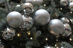 Rockefeller Center Christmas trees - my reflection in the tree ornaments!