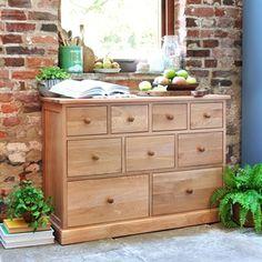 Appleby Oak 9 Drawer Chest