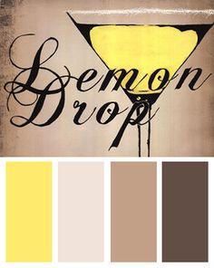Yellow Color Palette Inspired by: Lemon Drop, Art Print by KC Haxton