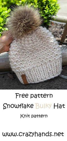 Knitted Hats Kids, Knitting For Kids, Knitting For Beginners, Knitting Yarn, Crochet Hats, Start Knitting, Easy Knitting, Knit Hats, Knitting Projects