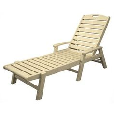 Strap Patio Stackable Chaise Lounge 78x27x14 White Patio