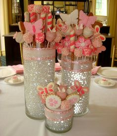 Christening Edible Centerpieces #DIY #Centerpiece #Edible #CandyBuffet