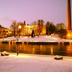Tammerkoski river in Tampere, Finland