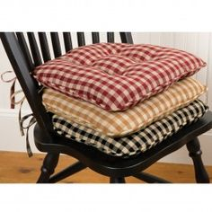 Chair Pads Buffalo Check Tufted Chair Pad Country