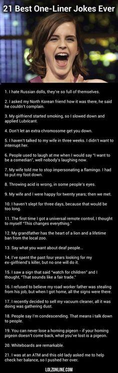 21 Best One-liner Jokes Ever#funny #lol #lolzonline