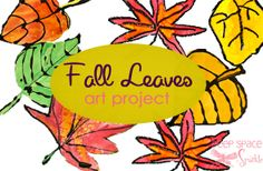 By Deep Space Sparkel! I love this site! Fall-leaves-art-project...not explicitly tied to a content area, but obvious connection to seasons for K or gr. 1