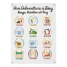 An Adventure a Day Banner - to hang above the bed.