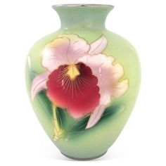 Check out this item at One Kings Lane! Porcelain Vase w/ Silver Decoration