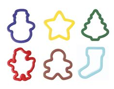 WILTON Grippy Cookie Cutter Set Of 6 - Christmas - New Colors > Startling review available here at : Baking Accessories