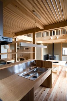 伝統構法で造る土壁の家: 尾日向辰文建築設計事務所が手掛けたキッチンです。