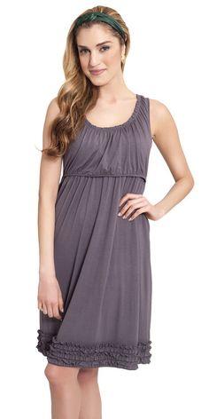 b041578eef Ruffle Lounge Nursing Dress  Grey  Nursing Dress For Wedding