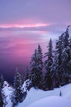 Winter Sunrise at Crater Lake by David Swindler Scenery Landscape Photography, Nature Photography, Scenic Photography, Night Photography, Landscape Photos, Photography Tips, Winter Scenery, Winter Sunset, Winter Snow