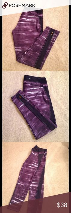 🍃🌹'Lucy Tech' - New Print Leggings 🍃 Brand New but without Tags. Size Large. Cute Purple/Black with a Semi sheer stripe down each leg. The waistband has an inner attached drawstring for an adjustable fit. There's also the infamous hidden zipped pocket on the back waist. Very well made and has no flaws whatsoever 🍃. Lucy Pants Leggings