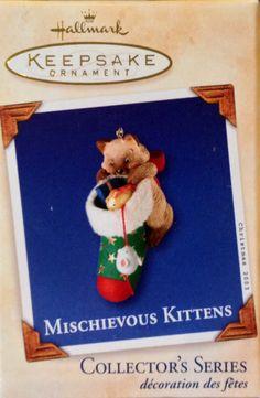 Hallmark ornament. Mischievous kittens. 5 th in series. 2003