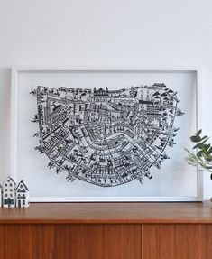Amsterdam Paper Cut Map