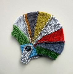 VINTAGE COLORBLOCK CAP Hand Knit Wool Pilot Winter Baby Boy Hat Retro Aviator Color Block Beanie Multi Color Bright Knitted Stretch