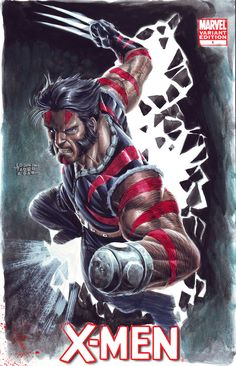 Wolverine - Age of Apocalypse by edtadeo on DeviantArt Comic Movies, Comic Book Characters, Marvel Characters, Comic Books Art, Comic Art, Logan Wolverine, Marvel Comics Art, Marvel Comic Universe, Yuyu Hakusho
